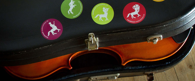 Musikland_Niedersachsen_Geige_Sticker_Design