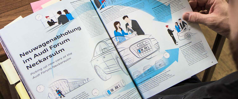 AUDI_AG_Zeitschrift_Gestaltung_Illustration