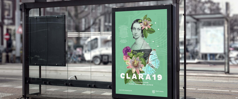 Stadt_Leipzig_Clara_19_Plakat_Bushaltestelle_Gestaltung_Motiv_Logo_Clara_Schumann