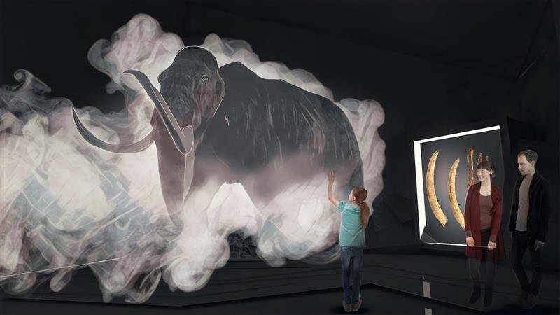 Fog Screen Installation Museum Mammut aus Borna Bild 1 von 2