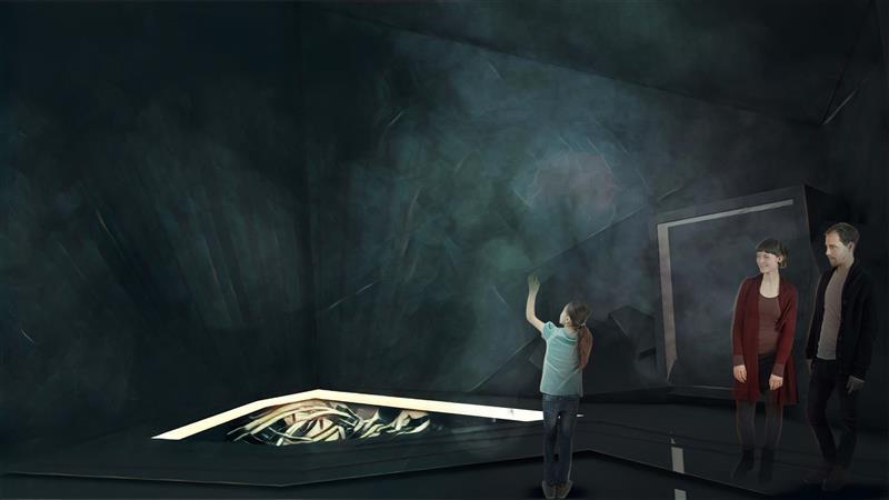 Fog Screen Installation Museum Mammut aus Borna Bild 2 von 2